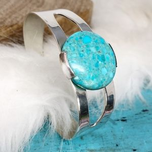 Sterling Jay King DRT Turquoise Cuff Bracelet 27g!